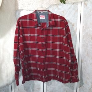 Wrangler Red Plaid Flannel Shirt 2X